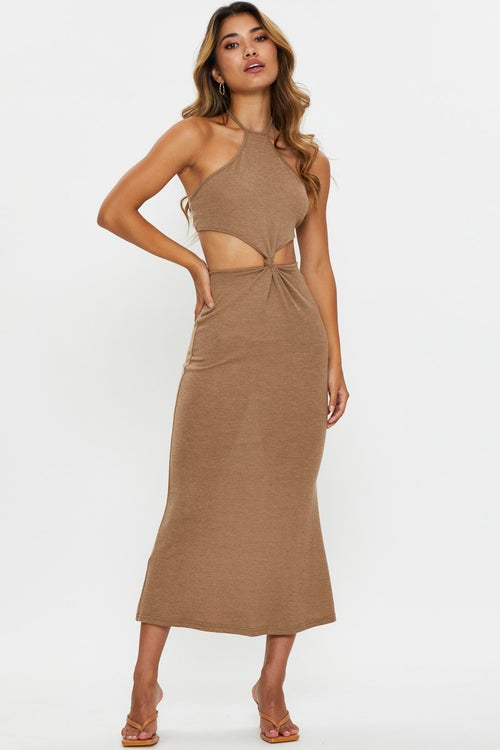 Knot Front Cut Out Dress