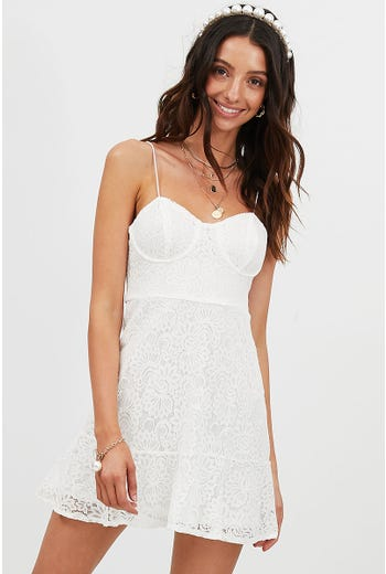 LACE BUSTIER DRESS