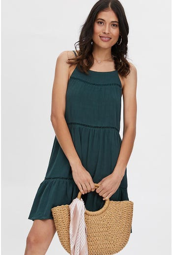 LADDER TRIM SWING DRESS