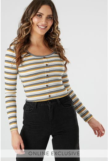 LONG SLEEVE TANK SEMI CROP