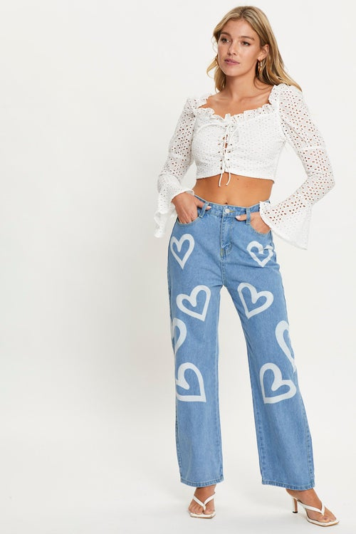 Love Heart Denim Jeans