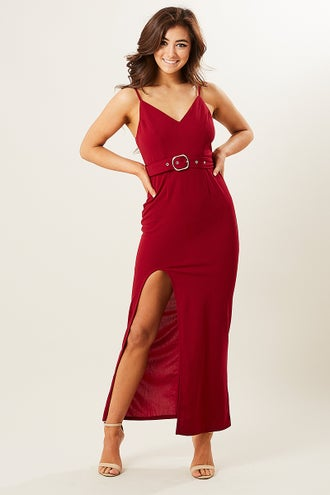 HILTON SELF BELT MAXI DRESS