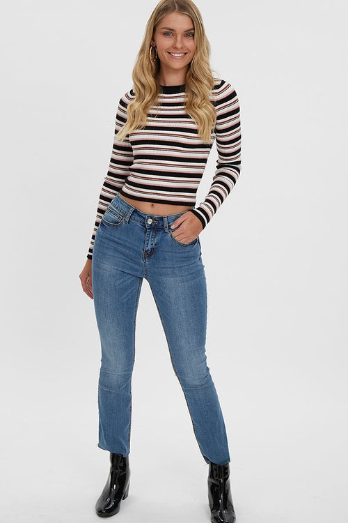 MID RISE CROPPED FLARE JEAN