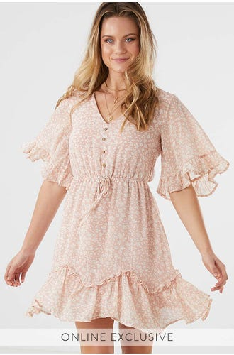 NINA RUFFLE DRESS