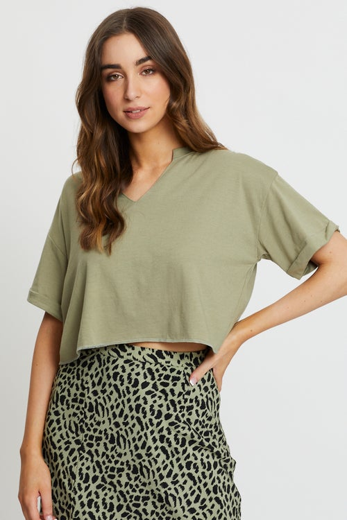 Notched Neck Top