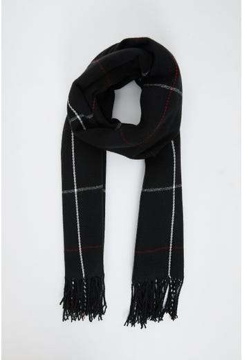 NYLA ROSE BLACK CHECK SCARF