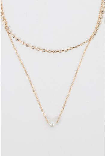 NYLA ROSE DELICATE LAYERED NECKLACE