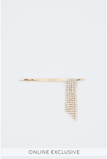 NYLA ROSE DIAMANTE STRAND HAIR SLIDE