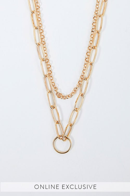 NYLA ROSE DOUBLE LAYER NECKLACE