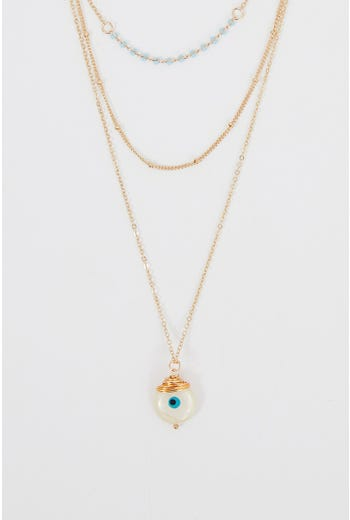 NYLA ROSE LAYERED METAL NECKLACE
