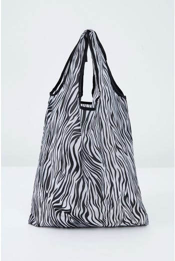 NYLA ROSE RE-USEABLE ZEBRA PRINT BAG