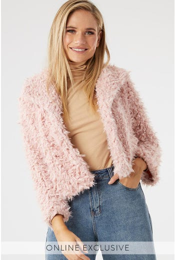 SHAGGY CROPPED JACKET