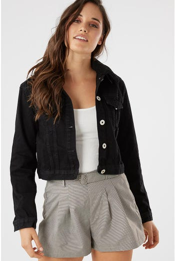 SHEARLING DETACHABLE DENIM JACKET