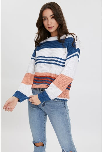 Oversized Colour Block Knit