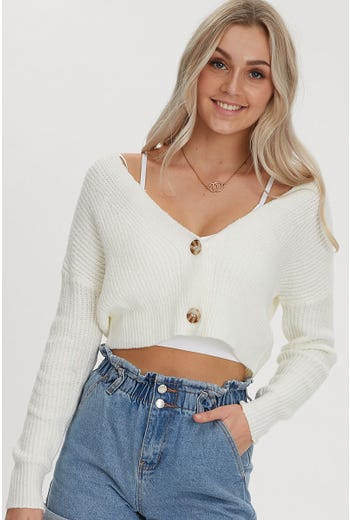 OVERSIZED CROP CARDIGAN