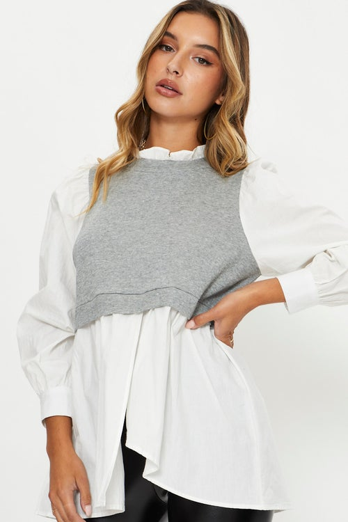 Oversized Shirt With Vest