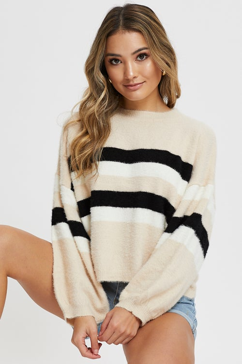 Oversized Stripe Knit