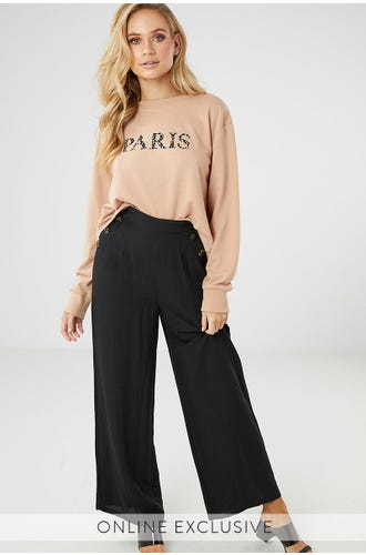 VOGUE SIDE BUTTON PANT