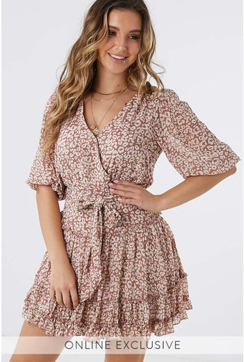 PHOEBE RUFFLE DRESS