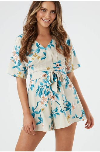 PLEAT DETAIL PLAYSUIT