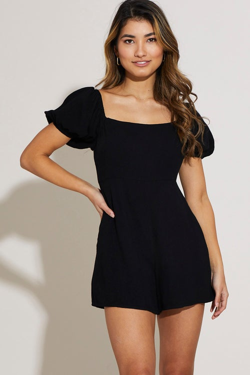 Puff Sleeve Relaxed Playsuit