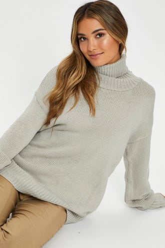Roll Neck Chunky Knit