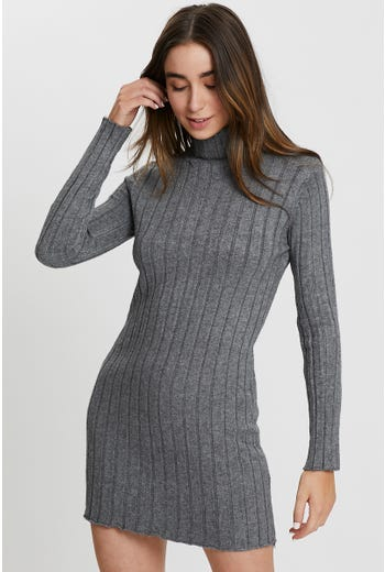 Roll Neck Knit Dress