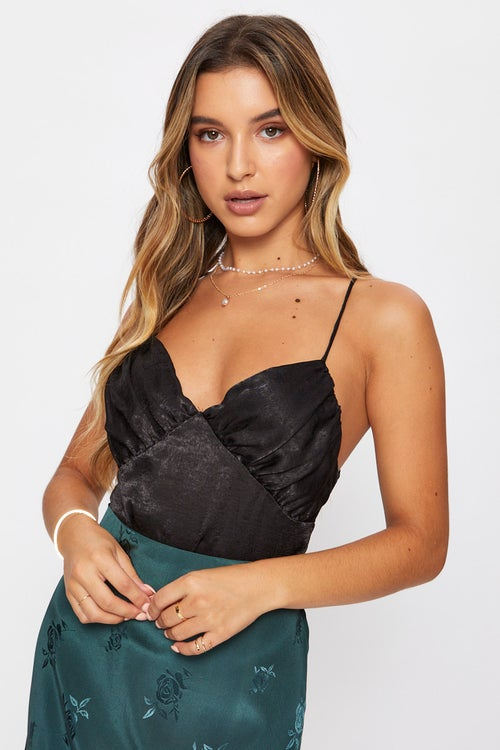 Ruched Satin Cami
