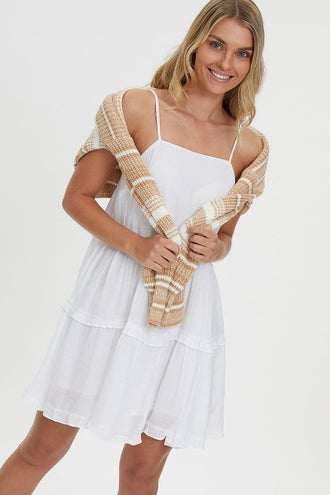 RUFFLE SWING DRESS