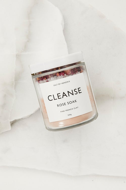 Salt By Hendrix Cleanse Rose Bath Soak 220g