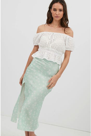 SAMMY FLORAL SPLIT MAXI SKIRT