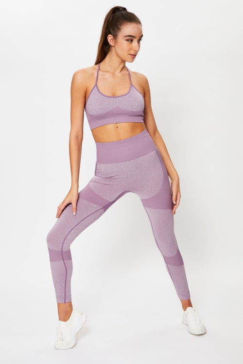 Seamless Sports Bra And Leggings Activewear Set