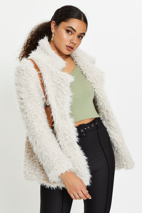 Shaggy Lapel Jacket