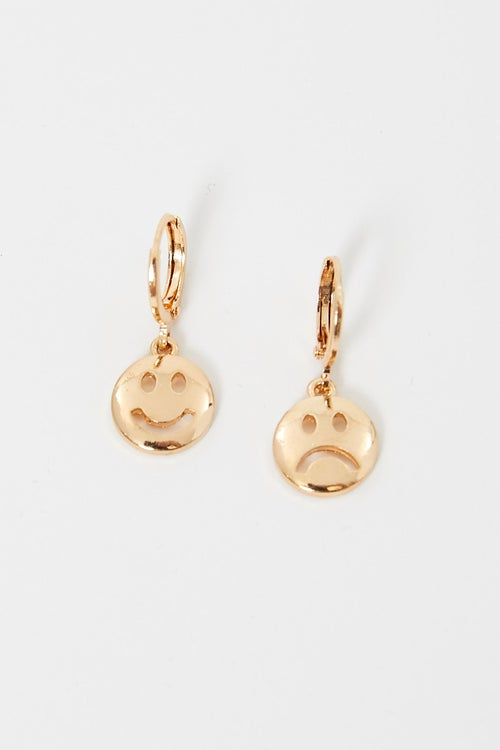 Smiley And Sad Face Earrings