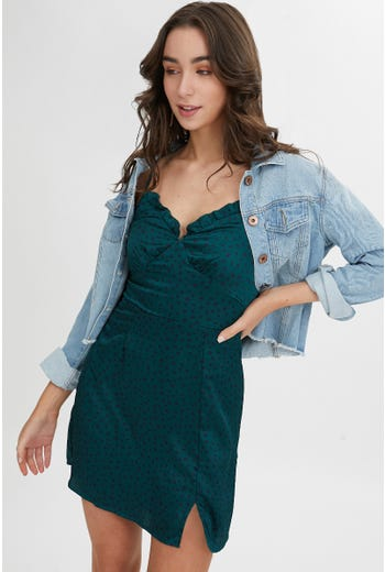 SPLIT HEM ALINE DRESS