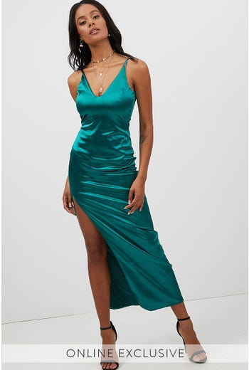 STRAPPY EVENING DRESS
