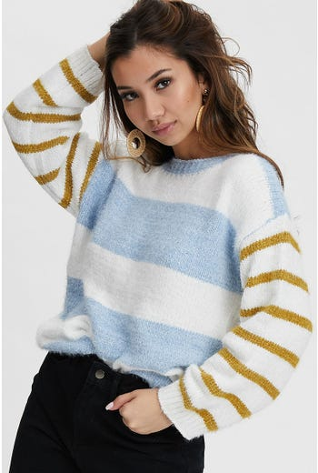 Contrast Stripe Knit