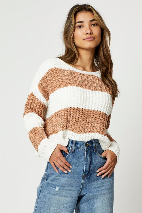 Stripe Chenille Knit