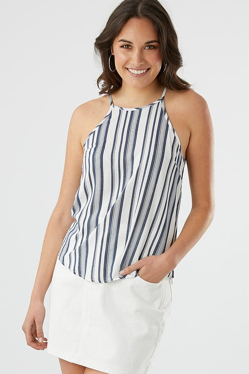 STRIPE HIGH NECK TOP