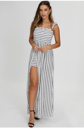 STRIPE MAXI PLAYSUIT