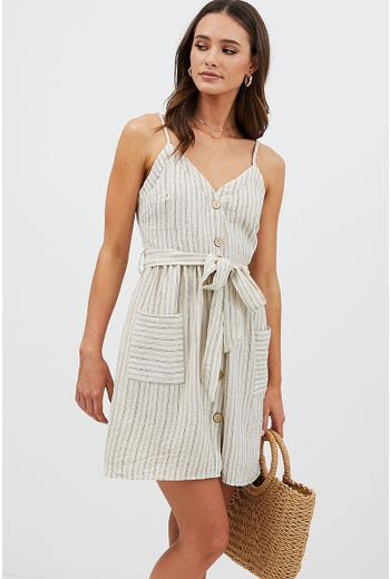 STRIPE TEXTURED DRESS