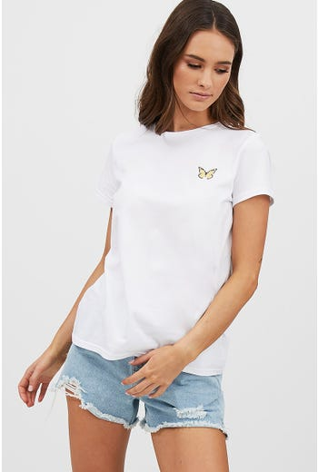 TEE-BOUTIQUE BUTTERFLY TEE