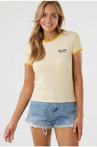 TEE-BOUTIQUE SWEETER THAN HONEY STRIPE TEE