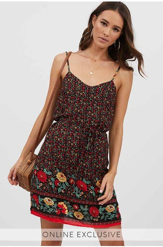 TIE BACK SLIP DRESS