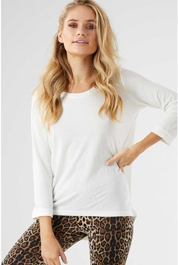 TURN UP CUFF 3/4 SLEEVE TOP