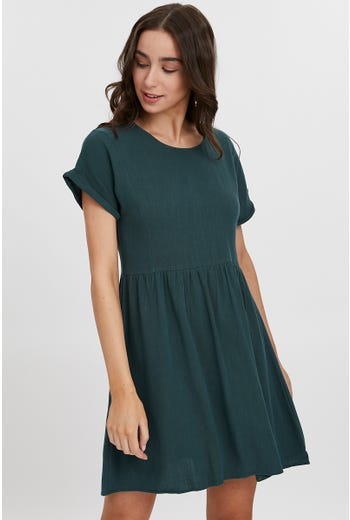TURN UP CUFF SWING DRESS