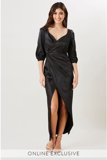 BELVEDERE LONG SLEEVE MAXI DRESS