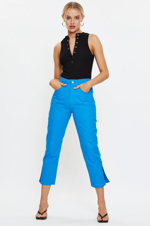 Wide Leg Side Split Jeans