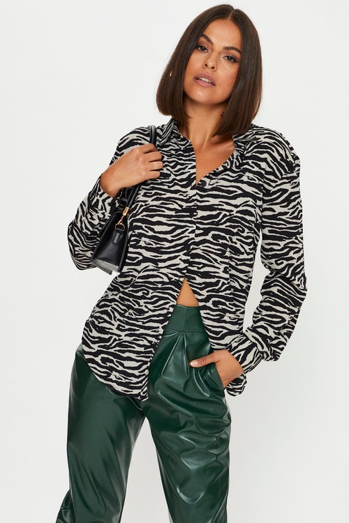 Zebra Pattern Shirt